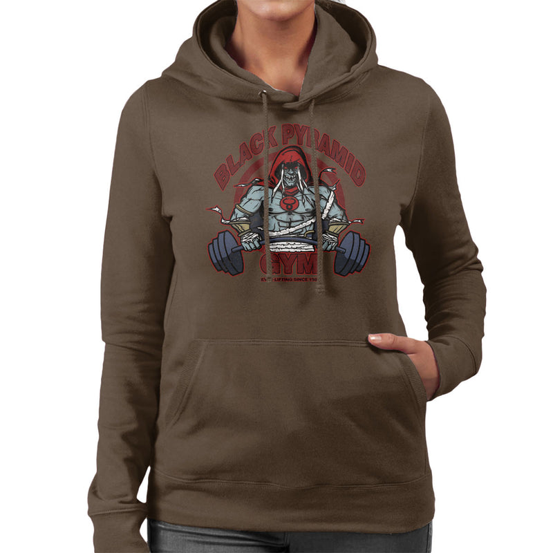 Black Pyramid Gym Mumm Ra Thundercats Women's Hooded Sweatshirt by AndreusD - Cloud City 7