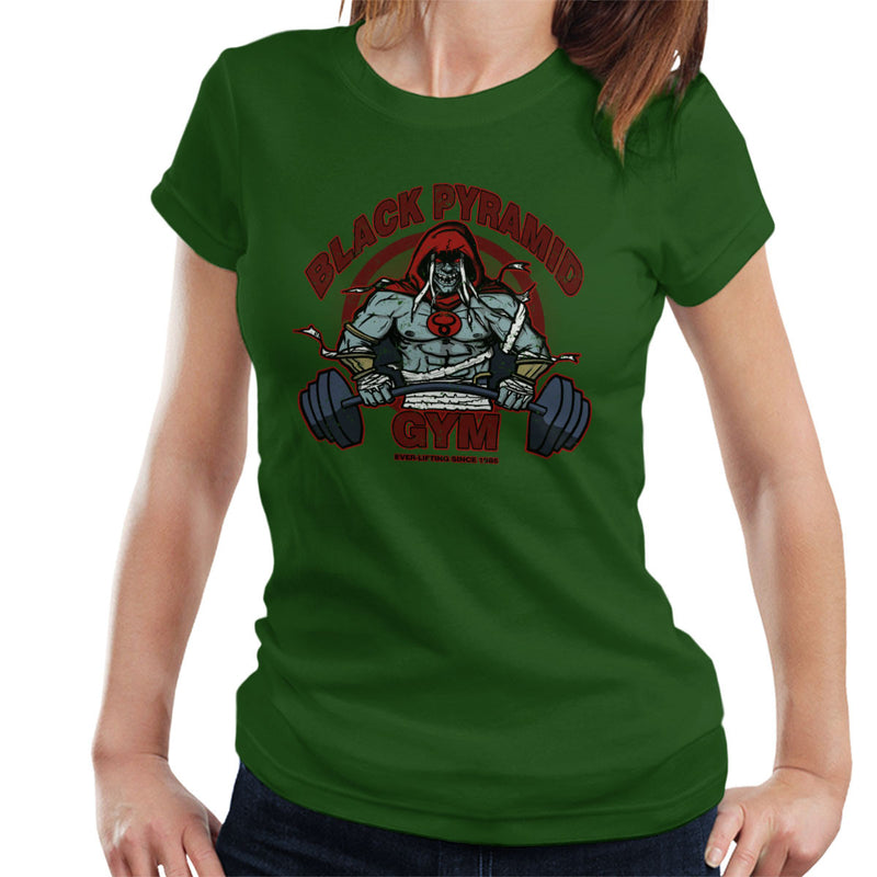 Black Pyramid Gym Mumm Ra Thundercats Women's T-Shirt by AndreusD - Cloud City 7