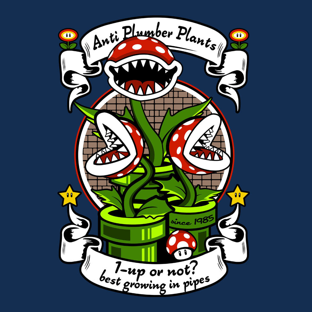 1 Up Or Not Anti Plumber Plants Super Mario Bros design Cloud City 7 - 1