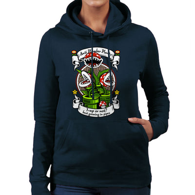 1 Up Or Not Anti Plumber Plants Super Mario Bros Women's Hooded Sweatshirt Women's Hooded Sweatshirt Cloud City 7 - 7