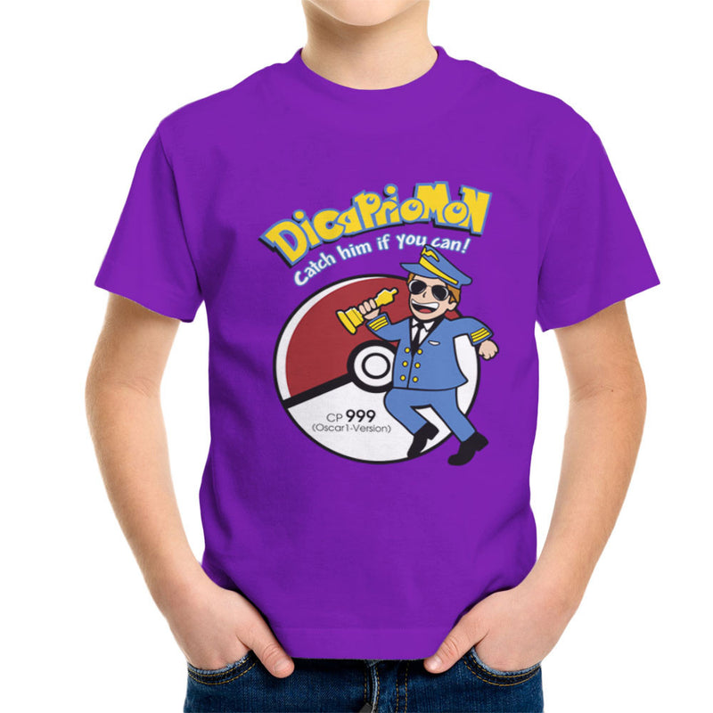 Dicapriomon Catch Him If You Can Pokemon Leonardo Dicaprio Kid's T-Shirt by Kempo24 - Cloud City 7