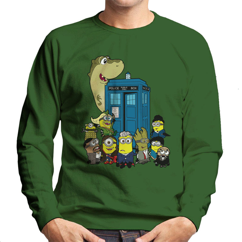 Doc Minion 12 And Chums Doctor Who Tardis Minions Men's Sweatshirt by TopNotchy - Cloud City 7