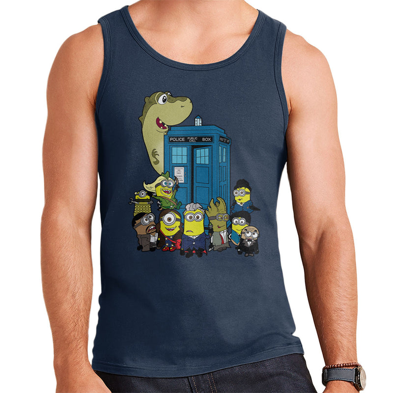 Doc Minion 12 And Chums Doctor Who Tardis Minions Men's Vest by TopNotchy - Cloud City 7