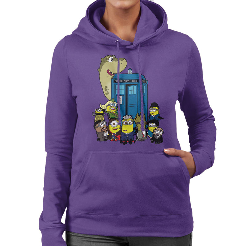 Doc Minion 12 And Chums Doctor Who Tardis Minions Women's Hooded Sweatshirt by TopNotchy - Cloud City 7