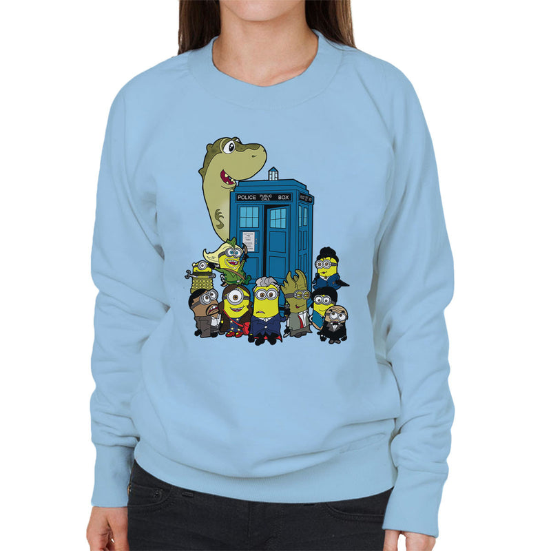 Doc Minion 12 And Chums Doctor Who Tardis Minions Women's Sweatshirt by TopNotchy - Cloud City 7