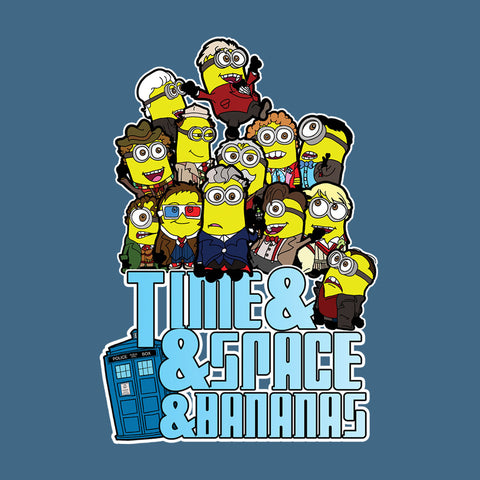 Time And Space And Bananas Doctor Who Minions Tardis