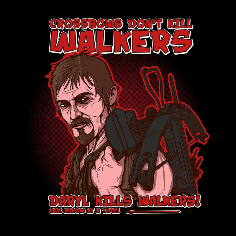 Crossbows Dont Kill Walkers Daryl The Walking Dead Kid's T-Shirt by AndreusD - Cloud City 7