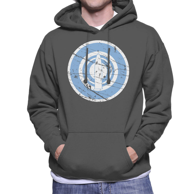 Daigaku Senbatsu Team Girls Und Panzer Distressed Men's Hooded Sweatshirt by Stefaan - Cloud City 7