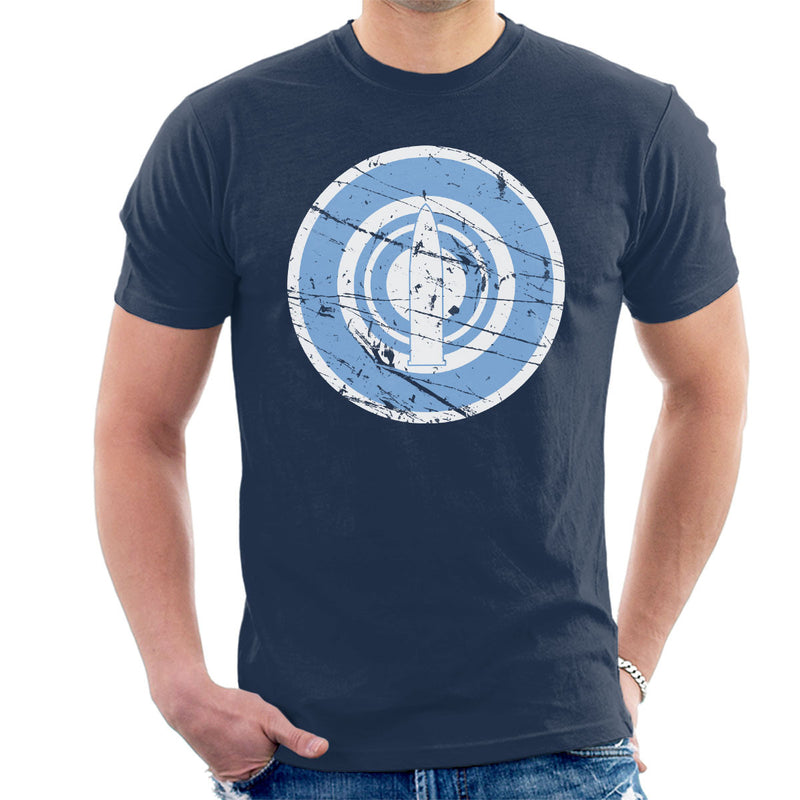 Daigaku Senbatsu Team Girls Und Panzer Distressed Men's T-Shirt by Stefaan - Cloud City 7