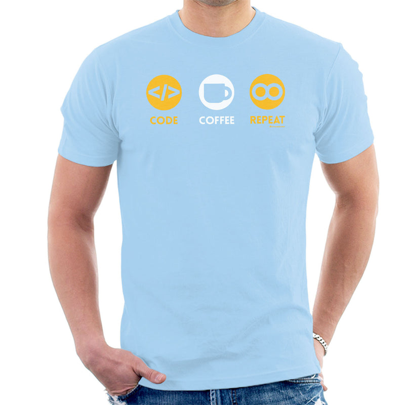 Code Coffee Repeat Men's T-Shirt by OfficeGeekShop - Cloud City 7