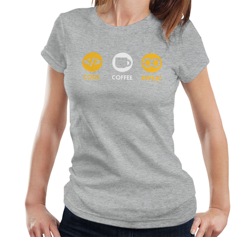 Code Coffee Repeat Women's T-Shirt by OfficeGeekShop - Cloud City 7