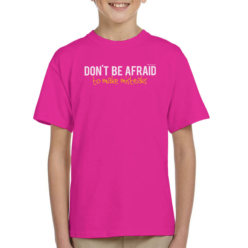 Dont Be Afraid To Make Misteaks Kid's T-Shirt by OfficeGeekShop - Cloud City 7