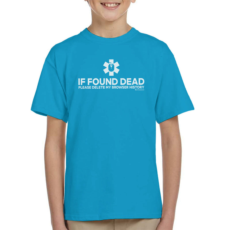If Found Dead Please Delete My Browser History Kid's T-Shirt by OfficeGeekShop - Cloud City 7