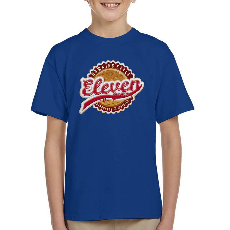 Eleven Waffles And Co Starnger Things Kid's T-Shirt by Kempo24 - Cloud City 7