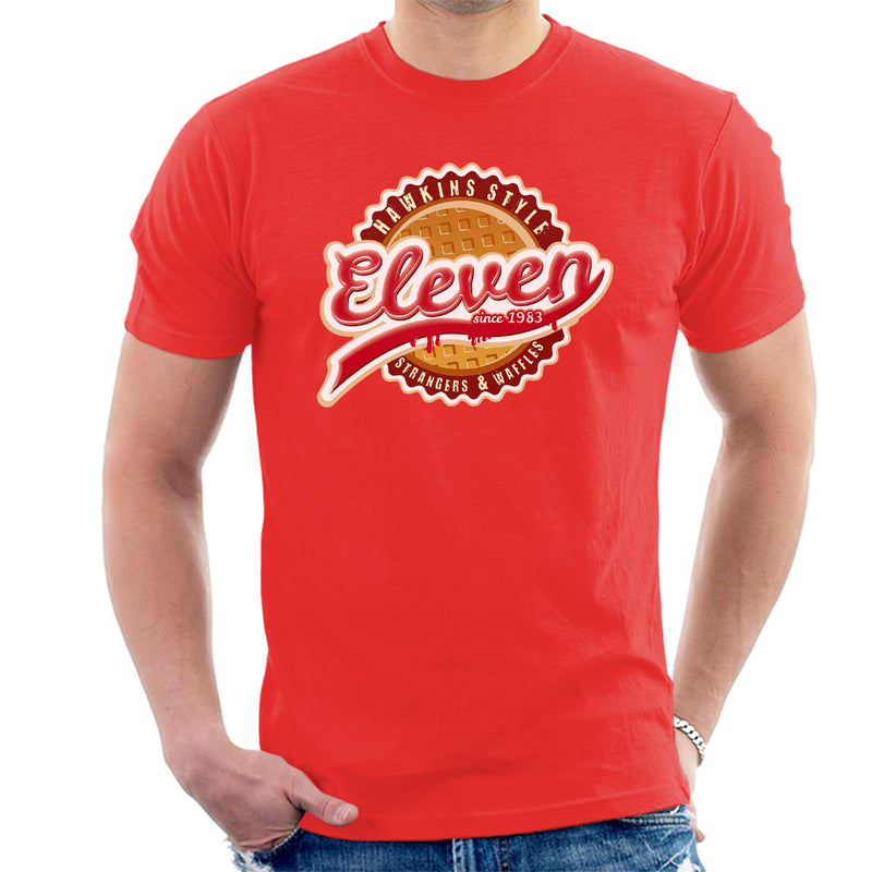 Eleven Waffles And Co Starnger Things Men's T-Shirt by Kempo24 - Cloud City 7