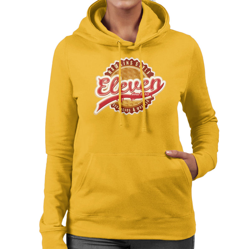 Eleven Waffles And Co Starnger Things Women's Hooded Sweatshirt by Kempo24 - Cloud City 7