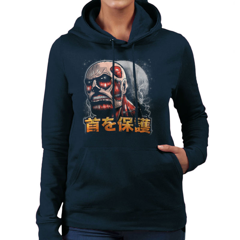 Aim For The Nape Attack On Titan Women's Hooded Sweatshirt by Create Or Destroy - Cloud City 7