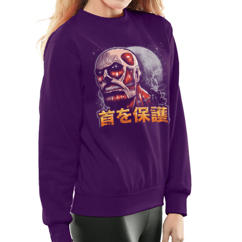 Aim For The Nape Attack On Titan Women's Sweatshirt by Create Or Destroy - Cloud City 7