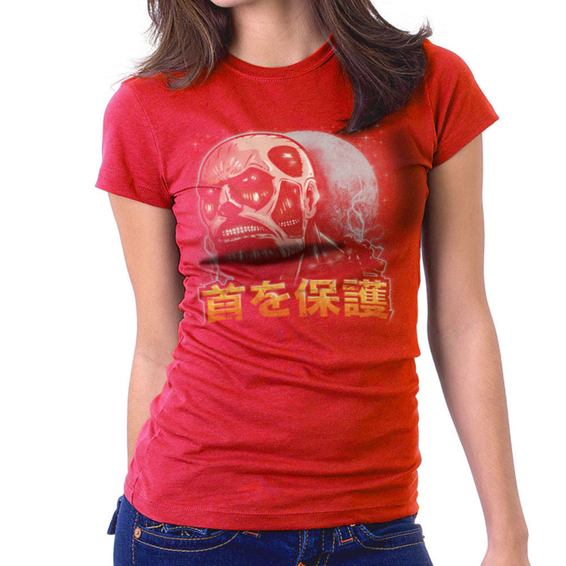 Aim For The Nape Attack On Titan Women's T-Shirt by Create Or Destroy - Cloud City 7