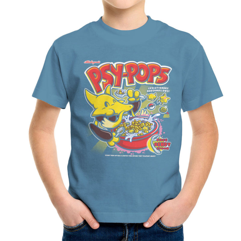 Alakazams Psypops Pokemon Cereal Kid's T-Shirt by Create Or Destroy - Cloud City 7