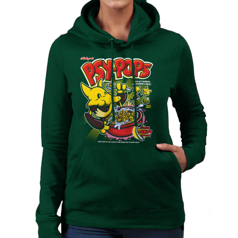 Alakazams Psypops Pokemon Cereal Women's Hooded Sweatshirt by Create Or Destroy - Cloud City 7