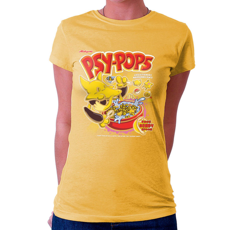 Alakazams Psypops Pokemon Cereal Women's T-Shirt by Create Or Destroy - Cloud City 7