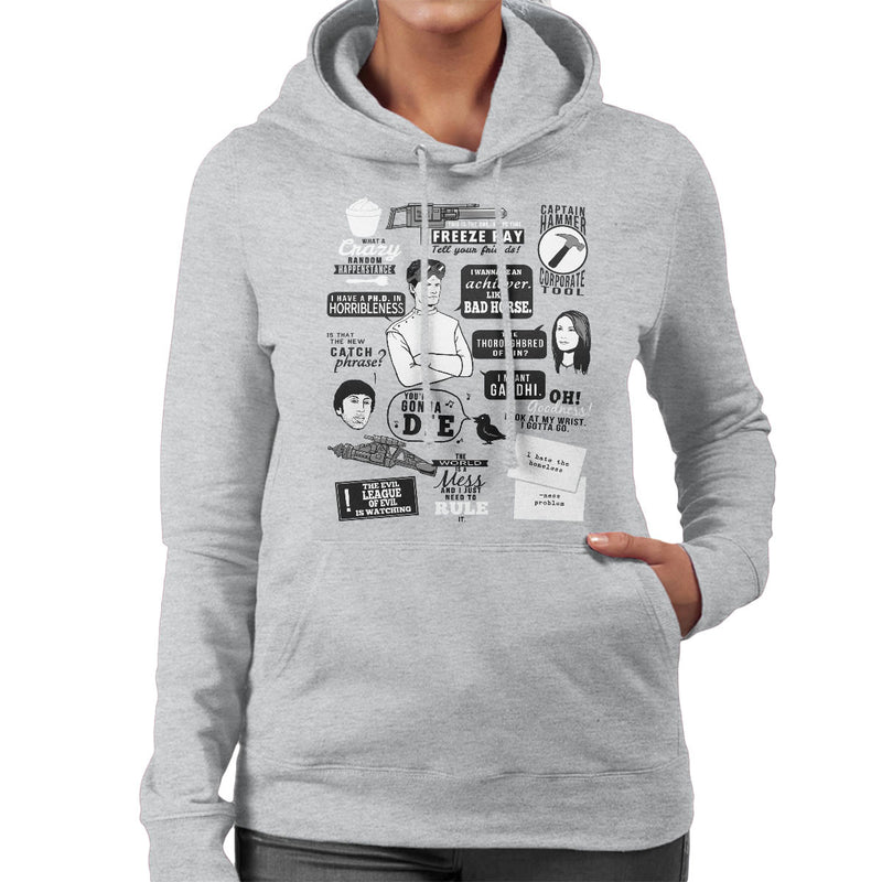 Horrible Quotes Dr Horribles Sing Along Blog Women's Hooded Sweatshirt by Crumblin Cookie - Cloud City 7