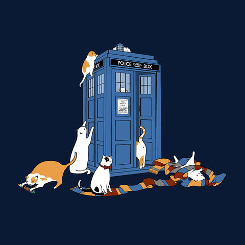 Time Travellers Cats Doctor Who Tardis