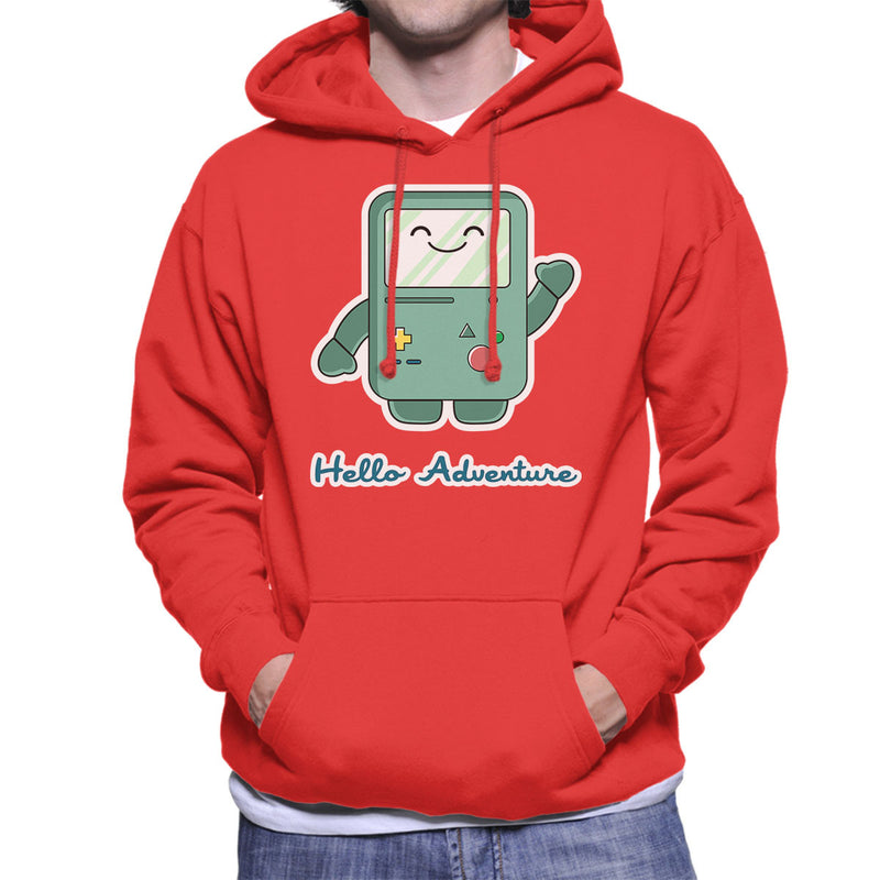 Adventure Time Hello BMO Games Console Blue Men's Hooded Sweatshirt by Kempo24 - Cloud City 7