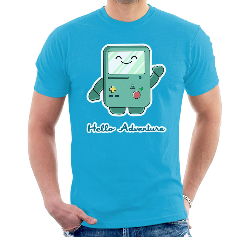 Adventure Time Hello BMO Games Console Blue Men's T-Shirt by Kempo24 - Cloud City 7