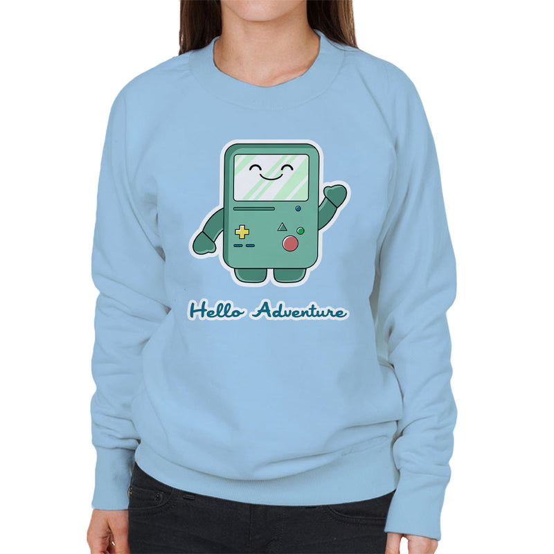 Adventure Time Hello BMO Games Console Blue Women's Sweatshirt by Kempo24 - Cloud City 7