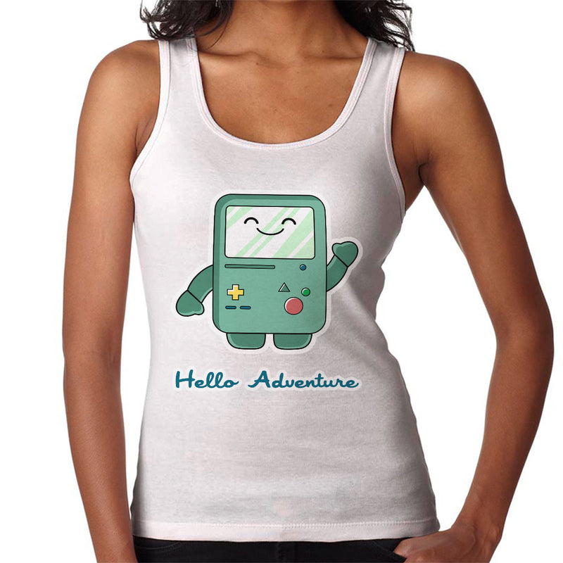 Adventure Time Hello BMO Games Console Blue Women's Vest by Kempo24 - Cloud City 7