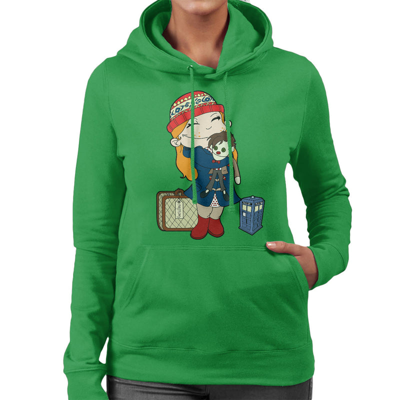 Amelia Pond Doctor Who Tardis Women's Hooded Sweatshirt by TopNotchy - Cloud City 7