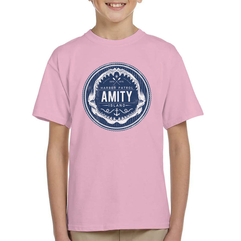 Amity Island Harbor Patrol Jaws Kid's T-Shirt by Nemons - Cloud City 7