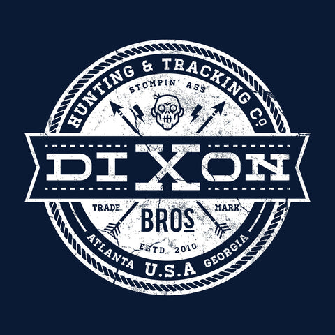 Dixon Bros Hunting And Tracking Co Walking Dead White