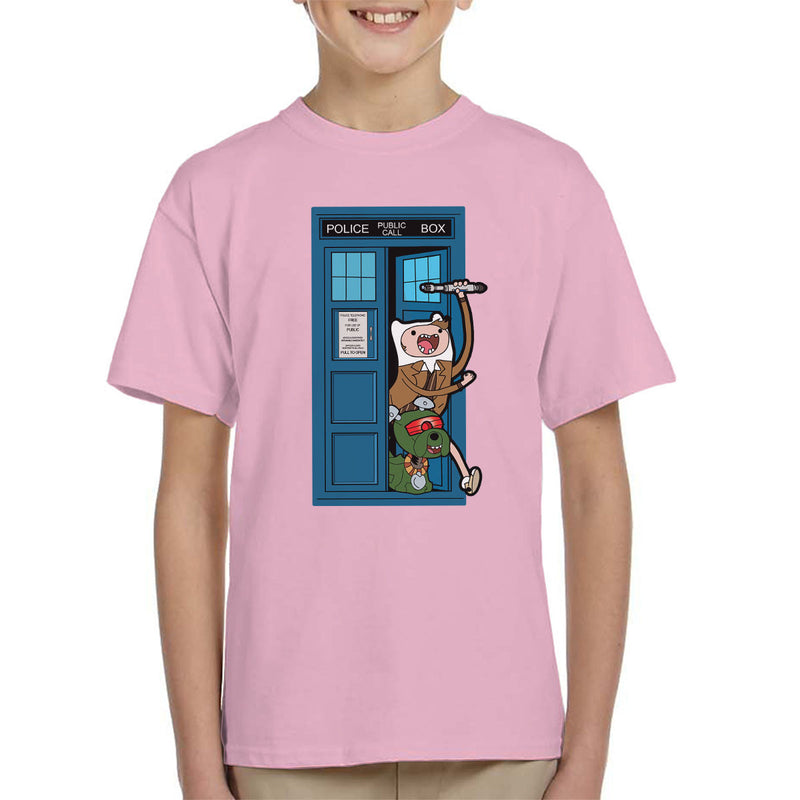 Adventure Time Dr Who Time Lord 10 Tardis Kid's T-Shirt by TopNotchy - Cloud City 7
