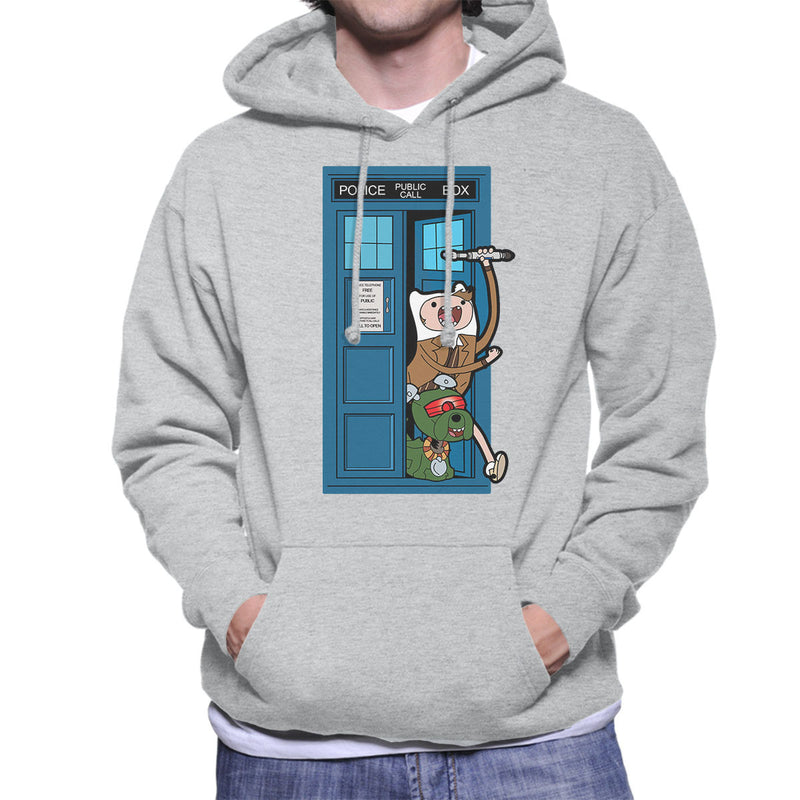 Adventure Time Dr Who Time Lord 10 Tardis Men's Hooded Sweatshirt by TopNotchy - Cloud City 7