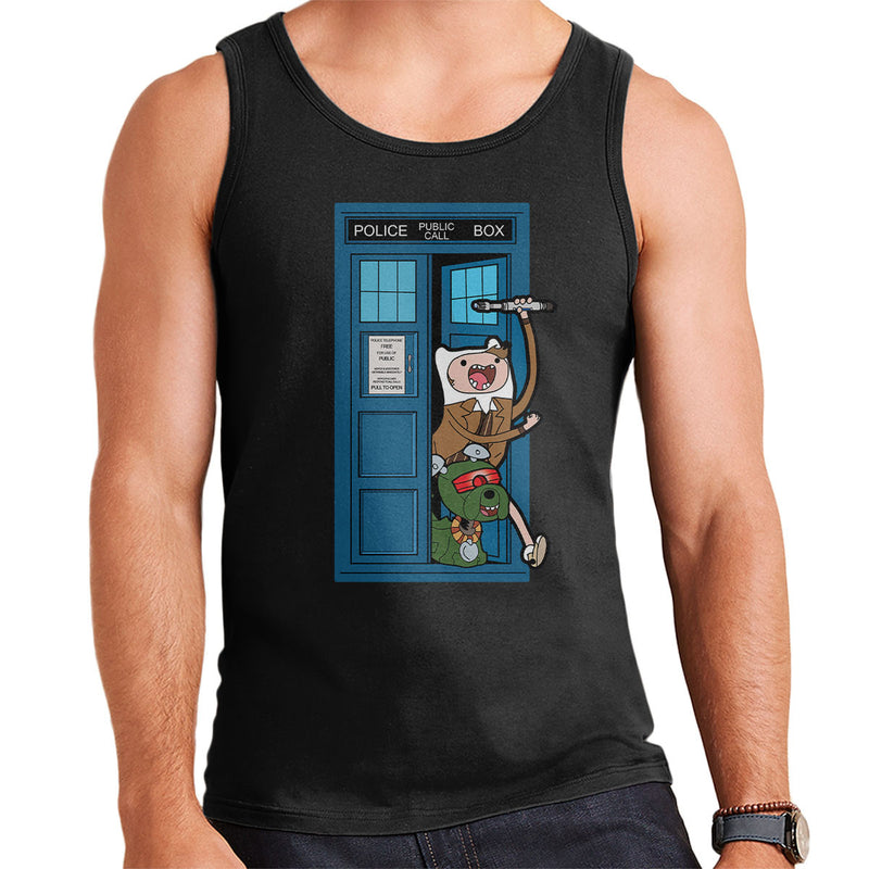Adventure Time Dr Who Time Lord 10 Tardis Men's Vest by TopNotchy - Cloud City 7