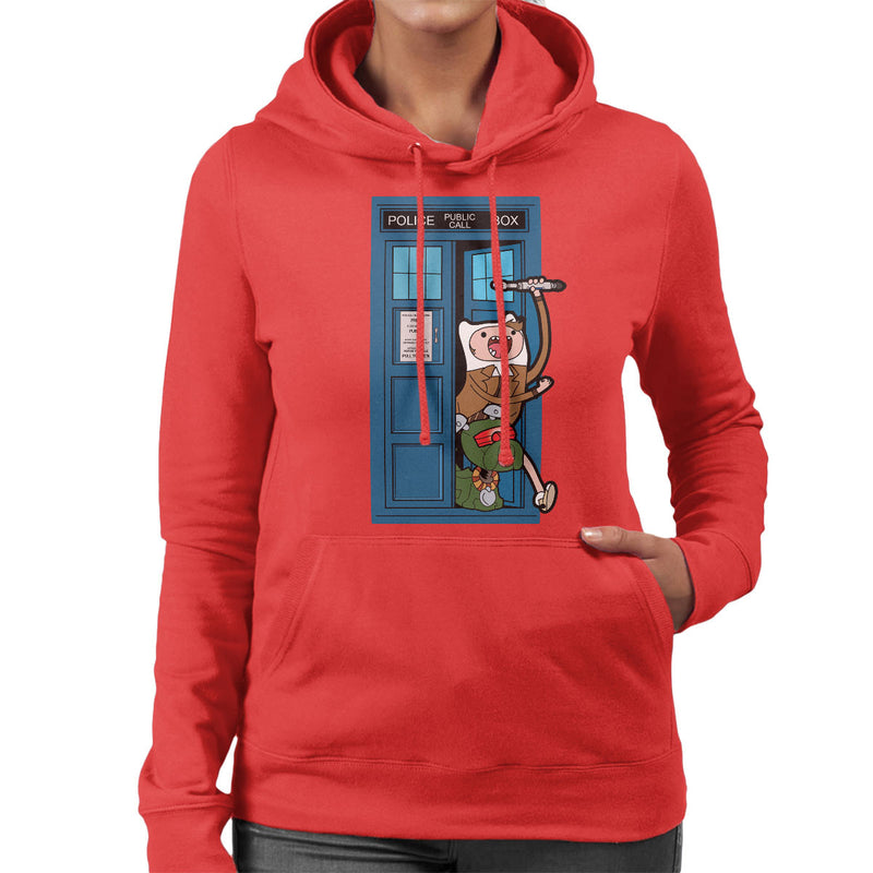 Adventure Time Dr Who Time Lord 10 Tardis Women's Hooded Sweatshirt by TopNotchy - Cloud City 7