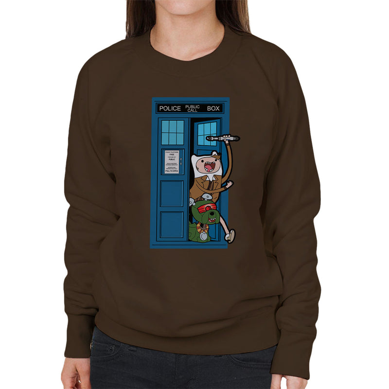 Adventure Time Dr Who Time Lord 10 Tardis Women's Sweatshirt by TopNotchy - Cloud City 7