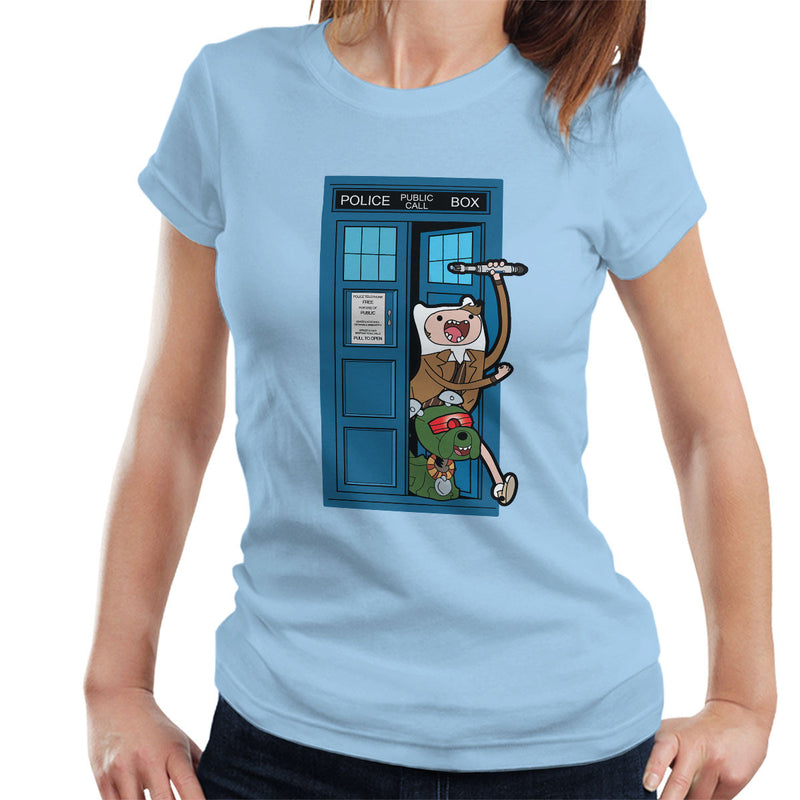 Adventure Time Dr Who Time Lord 10 Tardis Women's T-Shirt by TopNotchy - Cloud City 7