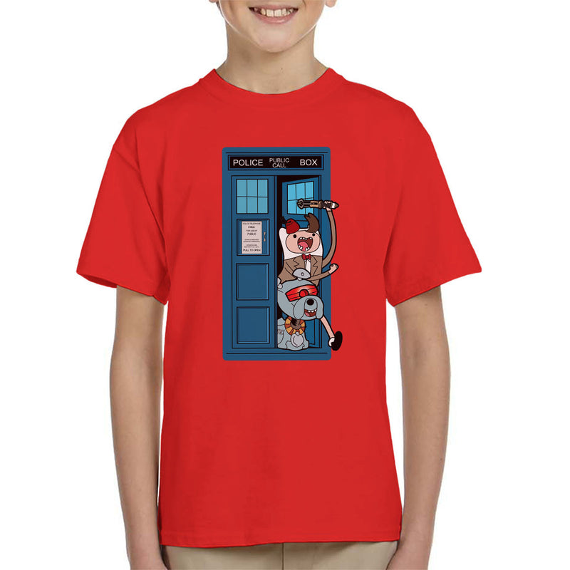 Adventure Time Dr Who Time Lord 11 Tardis Kid's T-Shirt by TopNotchy - Cloud City 7