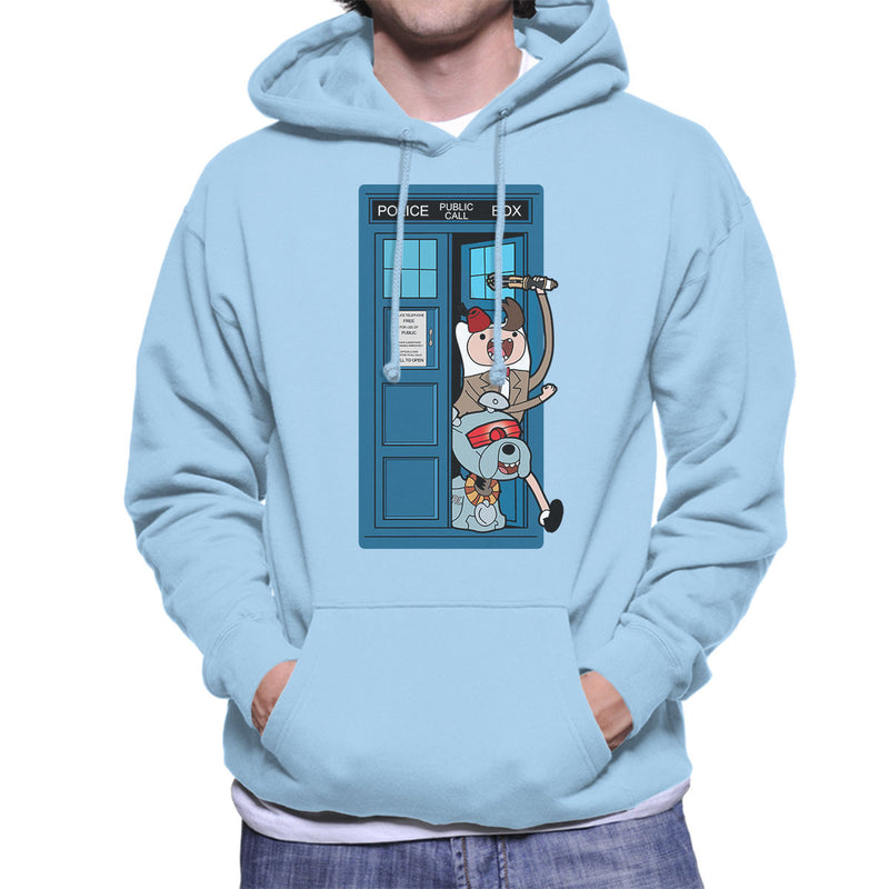 Adventure Time Dr Who Time Lord 11 Tardis Men's Hooded Sweatshirt by TopNotchy - Cloud City 7