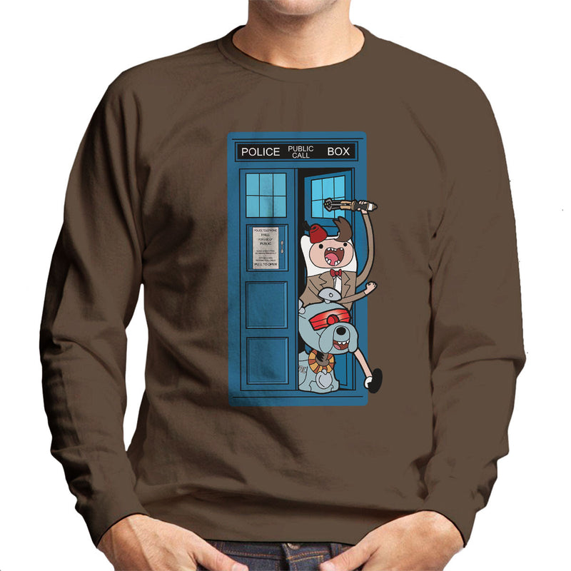 Adventure Time Dr Who Time Lord 11 Tardis Men's Sweatshirt by TopNotchy - Cloud City 7