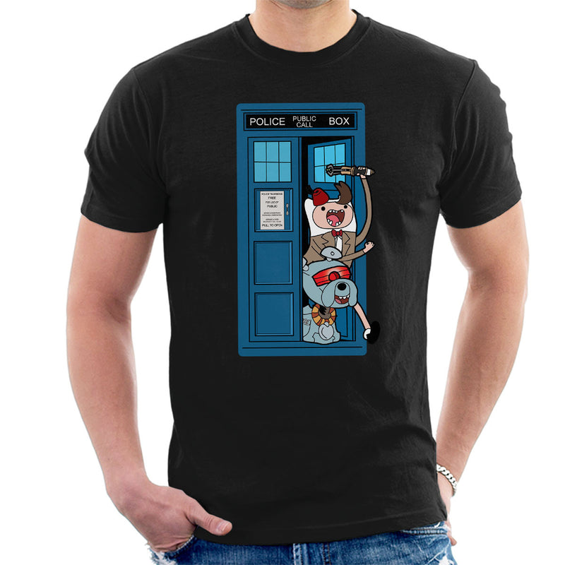 Adventure Time Dr Who Time Lord 11 Tardis Men's T-Shirt by TopNotchy - Cloud City 7