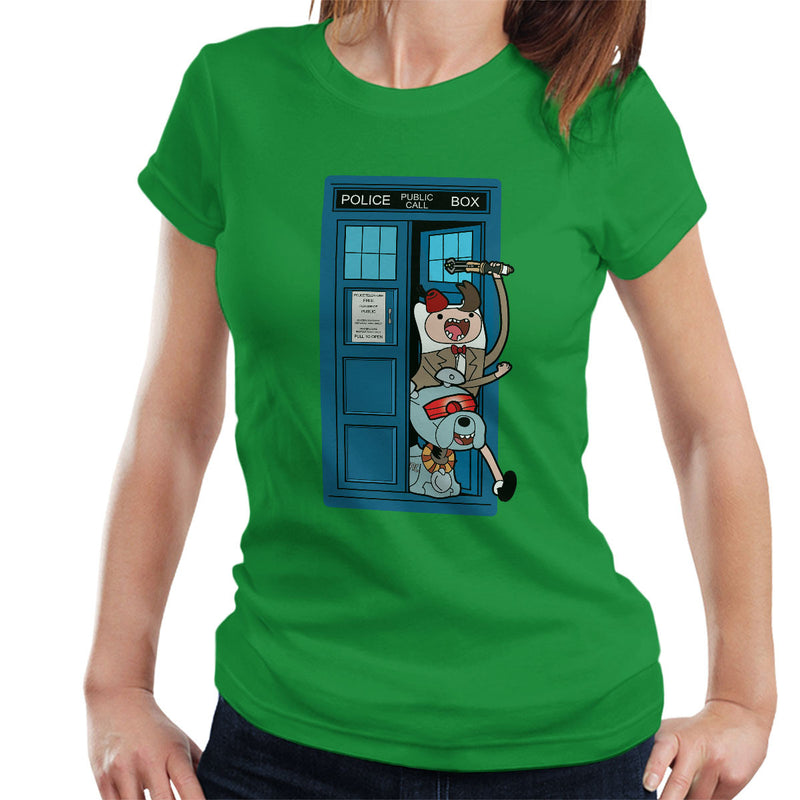 Adventure Time Dr Who Time Lord 11 Tardis Women's T-Shirt by TopNotchy - Cloud City 7