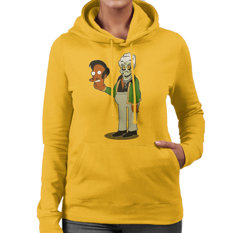Apu Achmed Slurpee I Kill You Mashup Women's Hooded Sweatshirt by Mannart - Cloud City 7