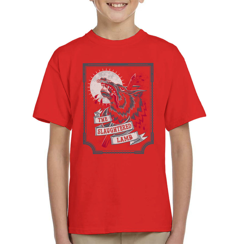 An American Werewolf In London Slaughtered Lamb Kid's T-Shirt by Nemons - Cloud City 7