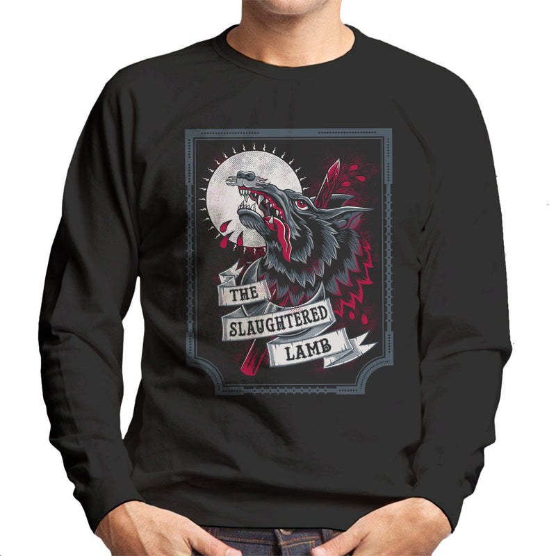 An American Werewolf In London Slaughtered Lamb Men's Sweatshirt by Nemons - Cloud City 7