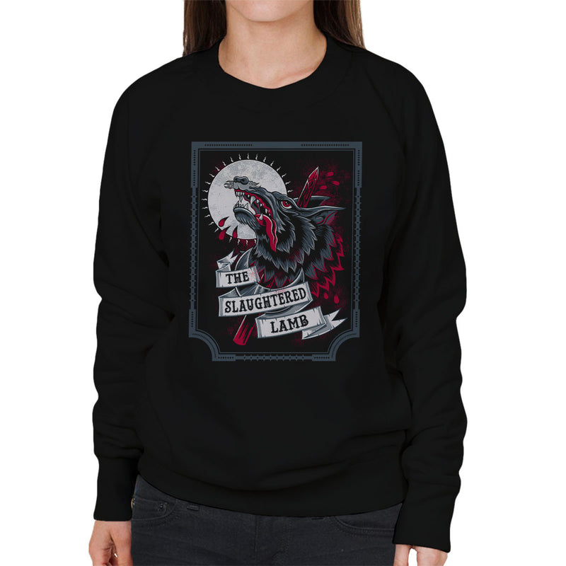 An American Werewolf In London Slaughtered Lamb Women's Sweatshirt by Nemons - Cloud City 7